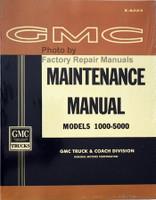 1962 GMC Truck Service Manual 1000-5000