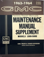 1963 1964 GMC Truck Service Manual Supplement 1000-5000