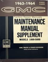 1963 1964 GMC Truck Service Manual Supplement 1000-5000