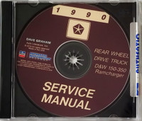 1990 Service Manual D&W 150-350 Ramcharger CD