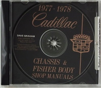 1977 1978 Cadillac Service Manual and Fisher Body Manual on CD