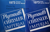 1973 Chrysler and Plymouth Chassis Service Manual and Body Service Manual