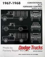 1967 1968 Dodge Pickup Truck 100-700 Service Manual