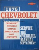 1976 Chevrolet Chevelle, Camaro, Monte Carlo, Nova, Corvette Service and Overhaul Manual