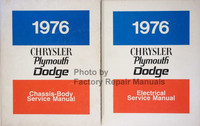 1976 Chrysler Plymouth Dodge Service Manual Volume 1 and 2