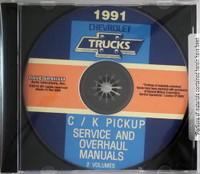 1991 Chevrolet Trucks C/K Pickup Service Manual & Unit Repair Manual  CD