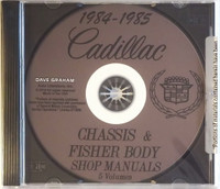 1984 1985 Cadillac Factory Shop Service Manual and Body Repair Manual CD