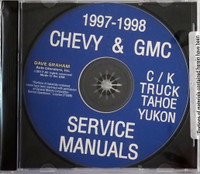 1997 1998 Chevy & GMC C/K Truck  Tahoe Yukon Service Manuals on CD