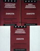 2003 Dodge Dakota Powertrain, Body and Chassis Diagnostic Procedures Manuals