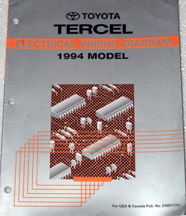 1994 toyota tercel electrical wiring diagrams original. Black Bedroom Furniture Sets. Home Design Ideas