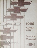 1986 Chevy Astro Van Factory Service Manual Passenger & Cargo Original Shop Repair
