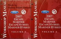 2007 Ford Escape, Mercury Mariner Escape Hybrid, Mariner Hybrid Workhop Manual Volume 1, 2
