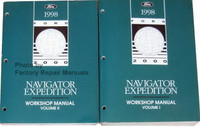 1998 Ford Navigator Expedition Workshop Manual Volume 1 and 2
