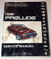 1981 HONDA PRELUDE Coupe Factory Dealer Shop Service Repair Manual Book 81