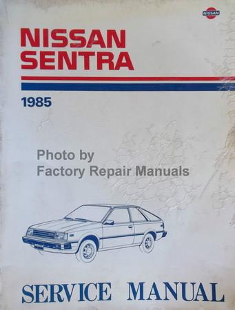 1985 nissan sentra factory service manual original shop repair rh factoryrepairmanuals com nissan sunny b11 service manual pdf Nissan Sunny B211