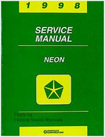 1998 Dodge Plymouth Neon Factory Service Manual Original Shop Repair