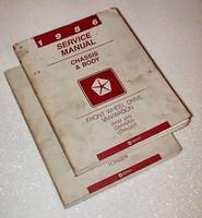 1986 Service Manual Front Wheel Drive Van/Wagon Ram Van Caravan Voyager Volume 1, 2