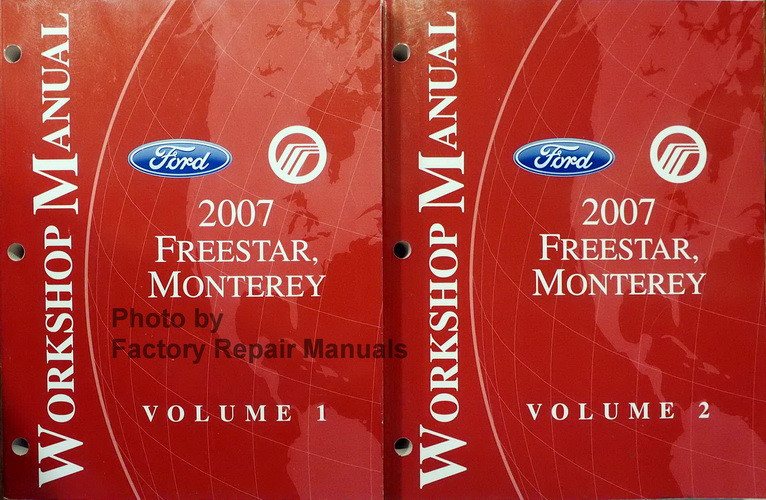 Factoryrepairmanuals factory service manuals original auto ford mercury 2007 freestar monterey workshop manual volume 1 2 fandeluxe Gallery