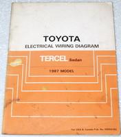 1987 toyota van electrical wiring diagrams original factory repair toyota tundra speaker wiring diagram 1987 toyota tercel electrical wiring diagrams original factory manual