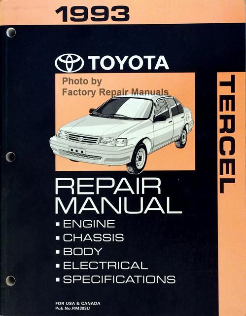 1993 toyota tercel factory service manual original shop repair rh factoryrepairmanuals com Toyota Tercel 98 Navy 94 Toyota Tercel Snorkel Set