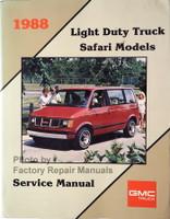 1988 Light Duty Truck Safari Models Service Manual GMC