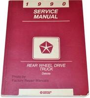 1990 Dodge Dakota Pick-up Truck Factory Service Manual Original Shop Repair