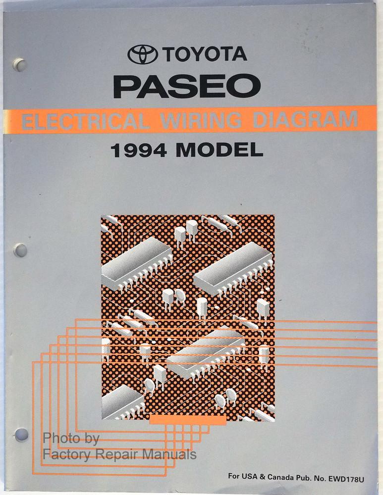1994 toyota paseo electrical wiring diagrams original factory manual rh factoryrepairmanuals com Home Electrical Wiring Diagrams Toyota Radio Wiring Diagram