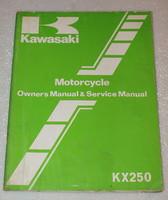 1982 Kawasaki KX250-B1 Factory Owners Service Manual KX 250 Motorcycle Repair