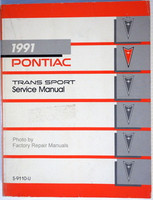 1991 Pontiac Trans Sport Mini-Van Factory Service Manual Original Shop Repair