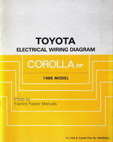 1986 Toyota Corolla FF Electrical Wiring Diagrams