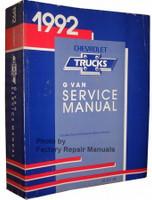 1992 Chevrolet Trucks G Van Service Manual
