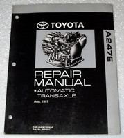 1998 1999 2000 Toyota RAV4 FWD A247E Automatic Transmission Shop Repair Manual