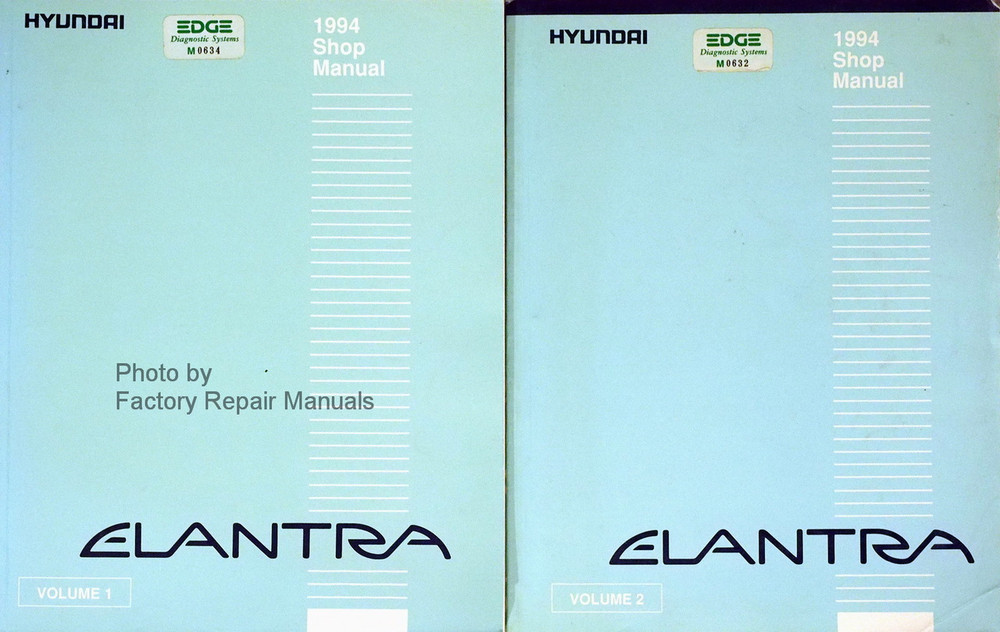 1994 hyundai elantra factory service manual set original