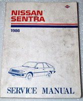 1986 NISSAN SENTRA Factory Shop Service Repair Manual B11 Series
