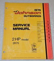1975 JOHNSON 2hp 2R75 2R Outboard Factory Dealer Shop Service Repair Manual