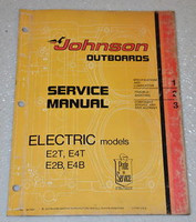 1975 JOHNSON Electric Outboard E2 E4 Outboard Dealer Shop Service Repair Manual