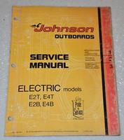 1975 JOHNSON Electric Outboard E2 E4 Outboard Dealer Shop Service Repair Manual