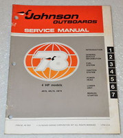 1978 JOHNSON 4hp 4W78 4R78 4RL 4 hp Factory Outboard Shop Service Repair Manual