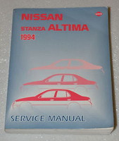 1994 NISSAN ALTIMA, STANZA Factory Shop Service Repair Manual
