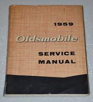 1959 OLDSMOBILE SUPER 88 98 Shop Service Manual Sedan Coupe Convertible Holiday