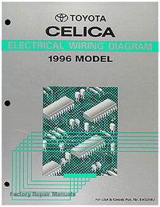1996 toyota celica electrical wiring diagrams original shop manual rh factoryrepairmanuals com 1996 Toyota Celica Convertible 2000 Celica