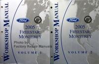 2005 Ford Freestar Mercury Monterey Workshop Manual Volume 1, 2