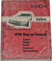 Toyota Celica 1980 Repair Manual Engine Chassis Body Electrical Specifications