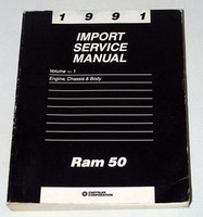 1991 Dodge Power Ram 50 Pick-Up Truck Factory Shop Service Repair Manual