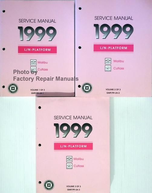 1999 chevy malibu olds cutlass factory service manual set. Black Bedroom Furniture Sets. Home Design Ideas