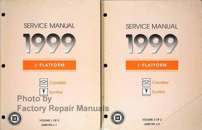 1999 chevy cavalier pontiac sunfire factory shop service manual rh factoryrepairmanuals com 1999 pontiac sunfire service manual 1999 Pontiac Sunfire