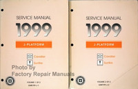 Service Manual 1999 J Platform Chevrolet Cavalier Pontiac Sunfire Volumes 1 and 2