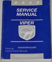 2002 Dodge Viper Factory Shop Service Repair Manual