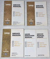 1998 Olds Silhouette Chevy Venture Pontiac Trans Sport Mini-Van Service Manual 5 Volume Set