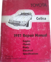 1981 Toyota Celica Factory Shop Service Repair Manual
